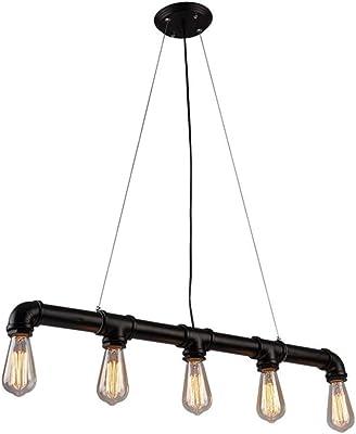 Lingkai Lámpara de techo industrial Vintage luz Edison ...