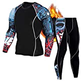 ZOROLA - Conjunto de ropa interior térmica para hombre, pantalones largos deportivos para hombre, camiseta de base de invierno, equipo de compresión - - Medium