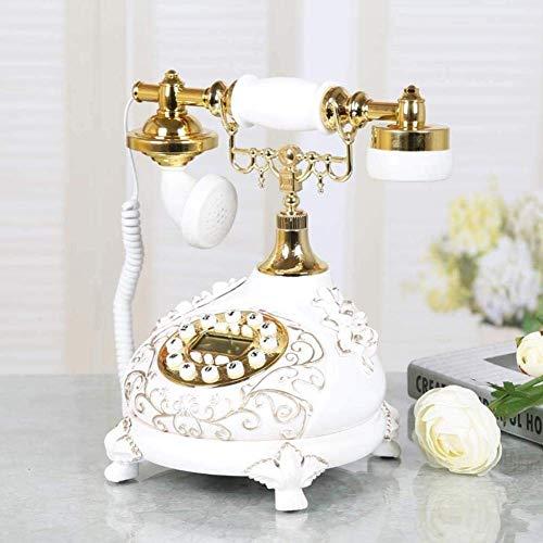 Teléfono clásico de la Vendimia Teléfono con Cable Pasado de Moda Clásico Retro Línea Fija con pulsador Plástico Inicio Cable Vintage Tono de Timbre Tradicional