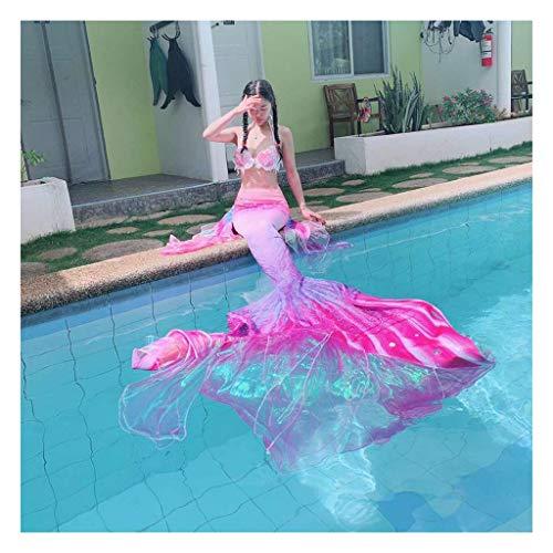 Mermaid Insiemi del Bikini Coda da Sirena per Nuotare Costumi da Bagno per Piscina/Spiaggia/Bagno/Cosplay/Festa A Tema(Color:Multicolor 2)