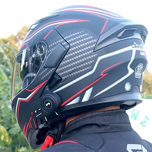 Motorradhelm Motorrad Bluetooth Helm Elektrische Fahrzeug Helm 1200 Mah Akkulaufzeit