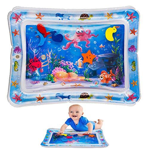 Tema acquatico Materassino gonfiabile acquatico Starfish Seahorse Play Pad Cuscino gonfiabile riempito d'acqua Materassino giocattolo Materasso Tempo per bambini Bebè neonato con animali galleggianti