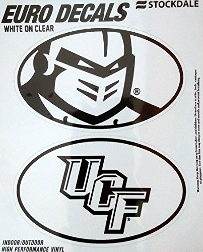 UCF Central Florida Knights 2-Pack EURO STYLE Vinyl Oval Home Auto Decals Sticker University of