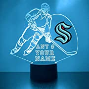 """What You Get: Custom-Made Acrylic Plaque with Logo and Personalization, 16 Color LED Base, Remote Control, USB Power Cable, (batteries not included). Size: 9"""" L x 10"""" W x 1/8"""" Thick Smart Touch & Remote Control: This Personalized LED Neon Sign can ch..."""