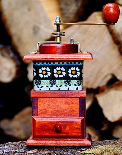 Kaffeemühle Porzellan Typ 5 Holz Gewürzmühle Bunzlauer Mühle Handarbeit Espressomühle