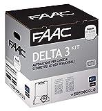 Faac Delta 3 Kit Automazione Per Cancelli Scorrevoli ad uso Residenziale 105630445 + Cremagliera Hiltron completa di bulloni Inclusa (Barra per 4 Metri con 12 bulloni)