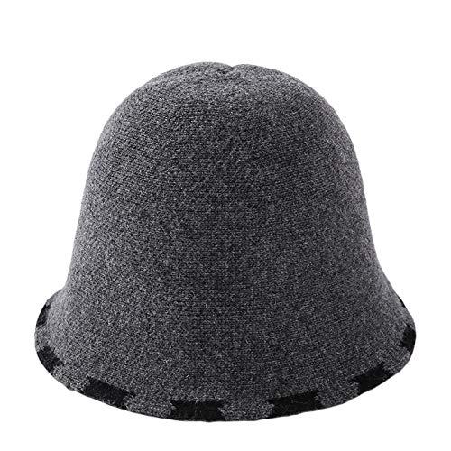 Cloché Beanie Sombrero De Las Mujeres, De Punto Beanies Color Sólido De Punto Estrecho ala del