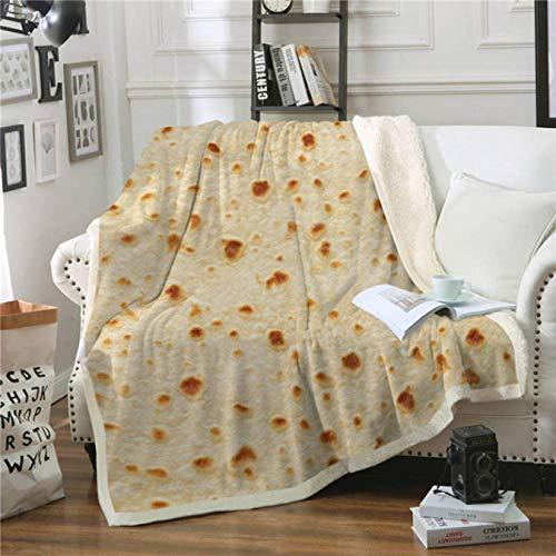 Bettwäsche Mais Tortilla Sherpa Throw Decke Pita Essen Lustige Decke für Bett Flanell Fleece Plüsch Tagesdecken 150 * 200Cm