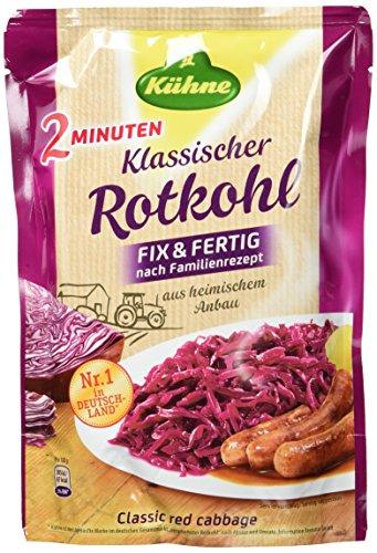 Kühne Klassischer Rotkohl im Beutel, Fix & Fertig nach Familienrezept, 10er Pack (10 x 400 g)