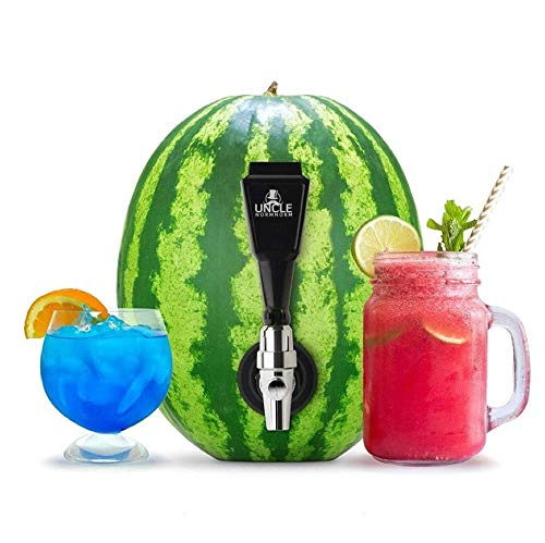 Wassermelonen-Spender-Set für Getränke, Obstfass und Entkernwerkzeug – Saft DIY Zapfhahn, Bierhahn, ideal um Melonen, Kürbisse und Ananas zu Eistee und Alkoholgetränke, Party-Cocktails