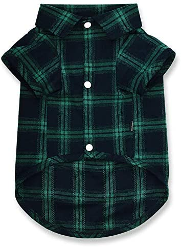 Koneseve Dog Shirt Pet Plaid Shirts Polo Clothes T Shirt Sweater Bottoming Shirt Soft for Small product image