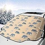 Hiram Cotton Car Sunshade Elefantes Parabrisas del Coche Protector Solar Pantalla Frontal Agua Luz Solar Cubierta De Nieve