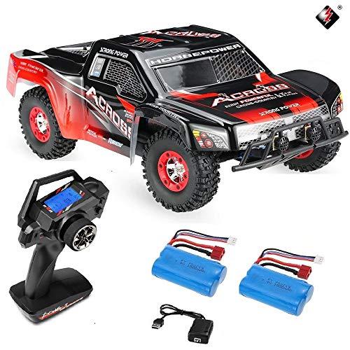 MODELTRONIC Coche Rally Radio Control XK Wltoys 12423 Escala 1/12 emisora Display LCD 2.4G 4x4 Alta Velocidad 50km/h Crawler Desert Offroad / Incluye 2X baterías LIPO