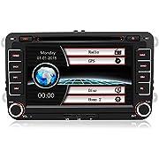 7 Zoll 2 Din Autoradio für VW Golf Seat mit Wince System DVD Player GPS Navigation FM AM Radio Bluetooth USB CD unterstützt Lenkrad Bedienung