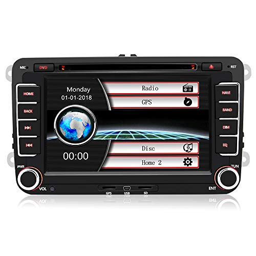 Autoradio con Pantalla Táctil 2 DIN Reproductor MP5 Multimedia 7' de Coche,...