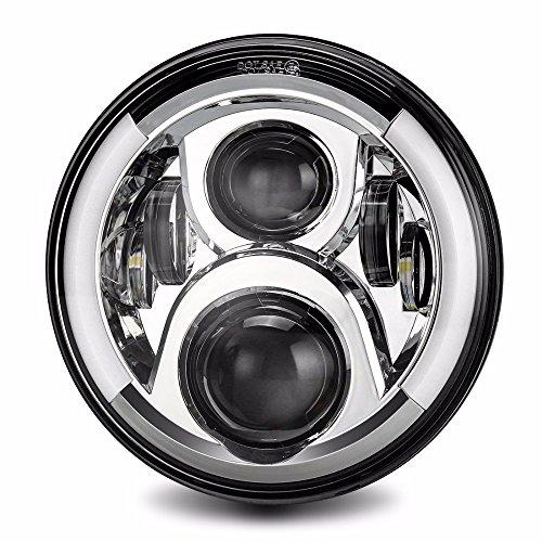 7 Zoll LED Scheinwerfer Bernstein Blinker für Motorrad