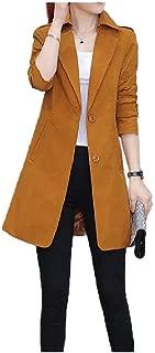 neveraway Women Trench Turn Down Collar Fashion Autumn Oversized Trench Coat