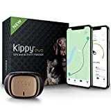 Kippy Evo - Collare GPS per Cani e Gatti con Localizzatore e Rilevatore dell'Attività e dello Stato di Salute - Accessori Cani e Gatti - con Batteria a Lunga Durata e Torcia LED - Marrone