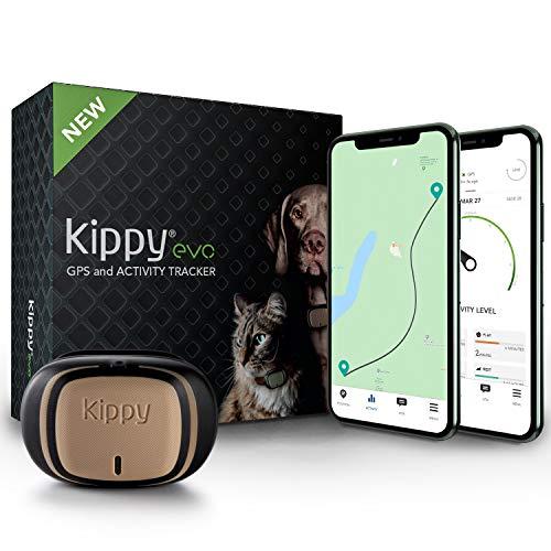KIPPY - EVO - Das Neue GPS und Activity Monitor für Hunde und Katzen, 38 gr, Waterproof, Batterie 10 Tage, Brown Wood