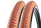 2 Stück 28 Zoll Kenda Fahrrad Reifen 40-635 Holland City 28 x 1 1/2 Reflex Orange