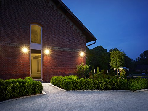 Steinel LED Outdoor Spotlight LS 150 Black - 240° Motion Sensor Light max. 12 m Range - 20.5 W, Swivelling Outdoor Wall Light 1760 Lumen [energy class A++]