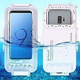 MMLC Wasserdichter Tauchgehäuse-Tauchoberteil 40M Unterwasserfall für Androides OTG mit Typ-C...