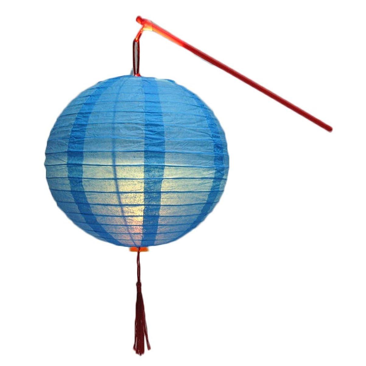 貞戦略カード中国のランタン子供のポータブルランタン - アンティークフォトの写真の小道具のための子供のLEDルミナスおもちゃランタン (Color : Blue)