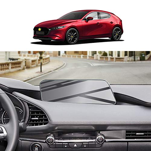 Screen Protector Foils for 2019-2021 Mazda3 Mazda CX-30 MZD Connect Navigation Display Tempered Glass 9H Hardness Anti Glare & Scratch HD Clear LCD GPS Touch Screen Protective Film (Without Hole)
