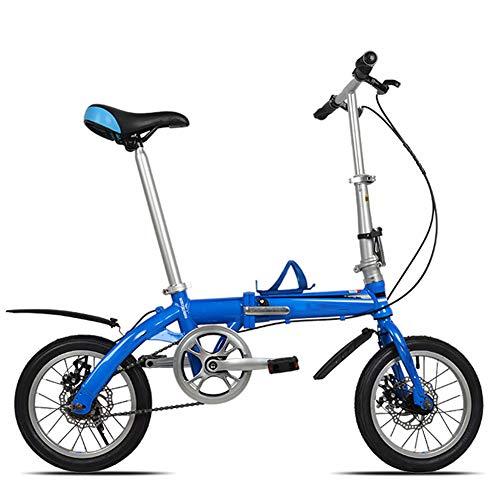 WHKJZ Bicicleta Plegable Marco Aluminio 14