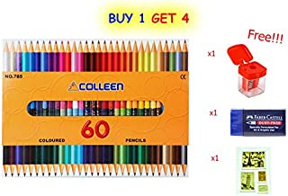 Colleen Colored Pencils 60 Color (2 Sides of 30 Pencils) with Special Gift Only 100 Set.