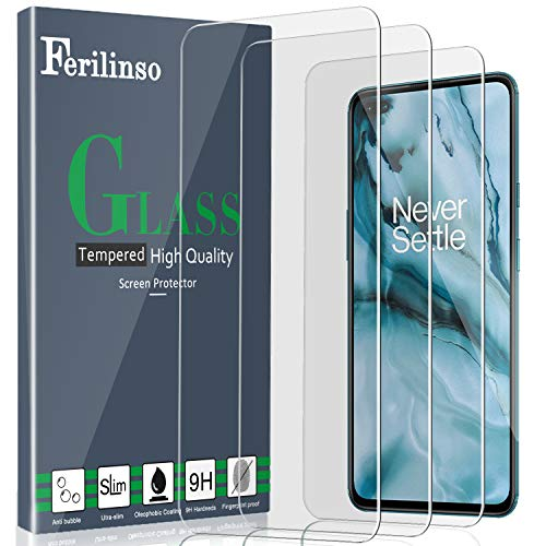 [3 Pack] Ferilinso for OnePlus Nord 5G Screen Protector [Tempered-Glass] [Military Protective] [HD Clear] [Case Friendly] [Anti-Fingerprint] [Anti-Scratch] [Bubble Free] [Easy Installation]