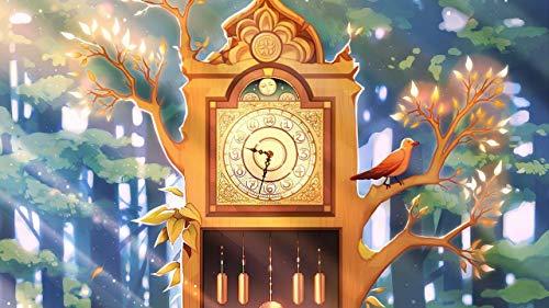 LJJSIFK Pintura de Bricolaje por números para Adultos, Kit de Pintura por números en Lienzo para Principiantes, árbol de Reloj, decoración del hogar, 16 x 20 Pulgadas (sin Marco)