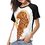 Gordon M Albers Florence and The Machine Women Baseball T Shirt Round Neck Tops Casual Shirt Black