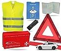 TK Gruppe Timo Klingler 8 in 1 Sicherheit Set 2021 Auto KFZ Warnweste, Warndreieck, Verbandskasten, Parkscheibe, Rettungsdecke UVM. - Erste Hilfe bei Unfall (Unfall Set mit Warndreieck)