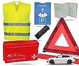 Set di sicurezza 8 in 1 2021 gilet di sicurezza per auto, triangolo di emergenza, kit di pronto soccorso, disco di parcheggio, coperta di emergenza UVM. - Pronto soccorso in caso di incidente