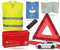 Sicherheitsset 2021 - Dieses XXL All in One Sicherheitsset hat Alles was man für das Auto benötigt. Neben Produkten für den Alltag wie Parkscheibe & Eisschaber, bietet dieses Set auch bei Unfällen & Pannen das nötige Equipment. Weiterhin ermöglicht d...