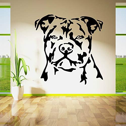 pegatina de pared pegatina de pared frases Staffordshire Bull Terrier Dog Decal Staffy Boy Niños Dormitorio Sala de estar Decoración del hogar