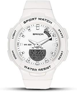 WTTHCC Resistente Al Agua Digital Militares Relojes 50M Impermeable Analógico Digital Relojes con Luz LED De Zona Horaria ...