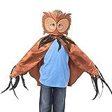 Slimy Toad – Fantastisches Eulen Kostüm für Kinder (Cape und Maske) Luxuriöses, handgemachtes...