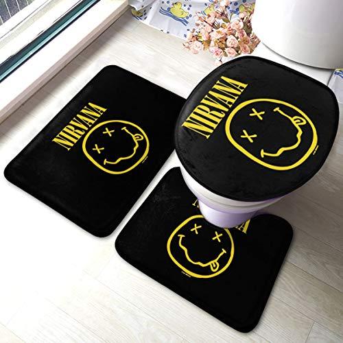 PKLUAS - Juego de 3 alfombras de baño de Franela antiestática a...