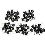Suggerimenti per la sostituzione del tacco alto, 30 Coppie Punte di riparazione scarpe tacco alto Stiletto Riparazione Heel Caps Rubinetti pin kit Ascensori per tasselli Sostituzione(5 Misure), nero