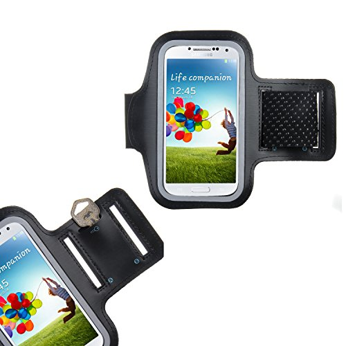 Dealgadgets Black Protective Gym Jogging Sports Armband Case Cover for Samsung Galaxy S4 with Free Wristband from Dealgadgets