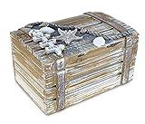 Puzzled Baja Medium Rustic Wood Nautical Jewelry Box, 6.75