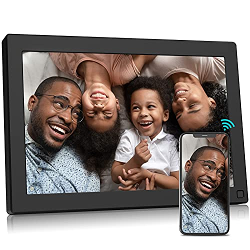 BSIMB WiFi Digital Picture Frame 10.1 Inch 16GB Digital Photo Frame 1280x800 IPS Touch Screen Auto Rotate Motion Sensor Upload Photos/Videos via App, Email W10