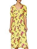 Marca Amazon - find. Vestido Midi Boho Mujer, Amarillo (Yellow), 38, Label: S