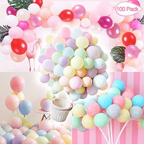 Sunshine smile Luftballons Pastell,Bunte Luftballons,Helium Luftballons,Latex Luftballons,Farbige Ballons,Partyballon,Dekorative Ballons für Hochzeit Weihnachten(100-PACK) (1)