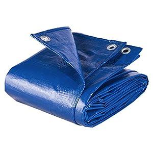 WOLTU Lona Impermeable Lona de Protección, Duradera con Ojales para Muebles, Jardín, Piscina, Coche 280 g/m2 Azul 3x4m GZ1211bl02