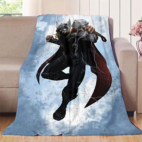 XavieraDoherty The Avengers, Thor Bettdecke, 130 x 180 cm, für alle Jahreszeiten, antistatisch, für Reisen, Camping