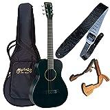 MARTIN LX BLACK ☆マーチンアコ-スティックギター高級3点セット(本体・高級木製スタンド・高級レザーストラップ)