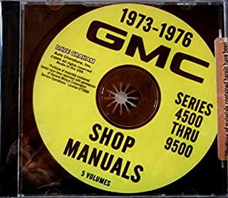 COMPLETE 1973 1974 1975 1976 GMC TRUCK REPAIR SHOP & SERVICE MANUAL CD Including 4500 5500 6500 7500
